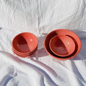 SMALL bowl with coral glaze - Pomelo casa
