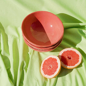MEDIUM bowl with coral glaze - Pomelo casa
