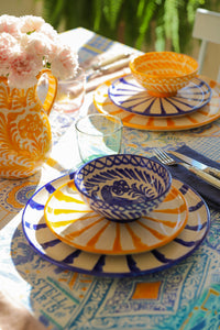 Casa Azul SMALL bowl with hand painted designs