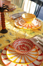 Load image into Gallery viewer, Casa Amarilla SALAD plate with candy cane stripes