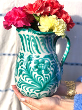 Load image into Gallery viewer, Casa Verde MEDIUM pitcher with hand painted designs
