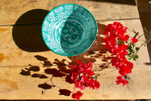 Load image into Gallery viewer, Casa Verde LARGE bowl with hand painted designs