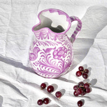 Load image into Gallery viewer, Casa Lila MEDIUM pitcher with hand painted designs
