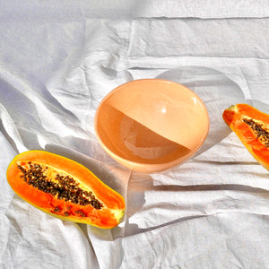 Casa Melocoton MEDIUM bowl with peach glaze