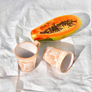 Casa Melocoton Mug with hand painted designs