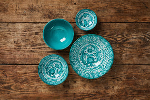 Casa Verde LARGE bowl with hand painted designs