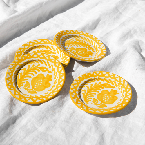 Casa Amarilla MINI plate with hand painted designs