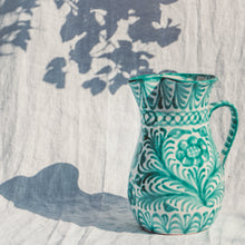 Load image into Gallery viewer, Casa Verde LARGE pitcher with hand painted designs
