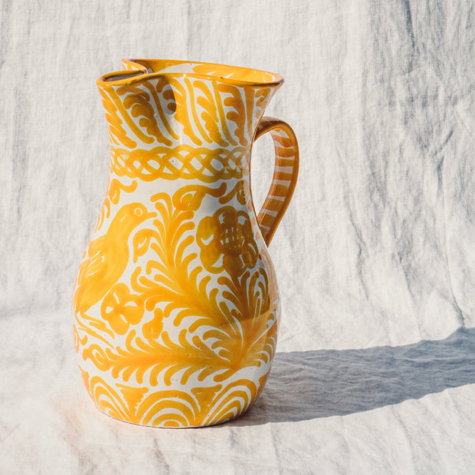 Casa Amarilla LARGE pitcher with hand painted designs