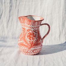 Load image into Gallery viewer, Casa Coral MEDIUM pitcher with hand painted designs