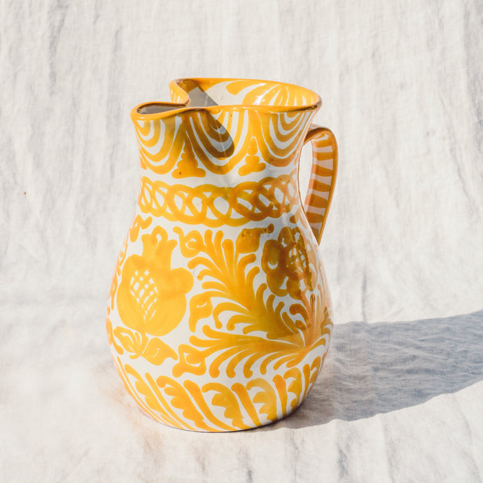 Casa Amarilla MEDIUM pitcher with hand painted designs