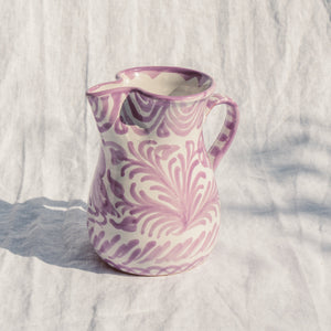 Casa Lila SMALL pitcher with hand painted designs