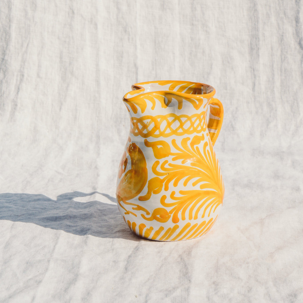 Casa Amarilla SMALL pitcher with hand painted designs