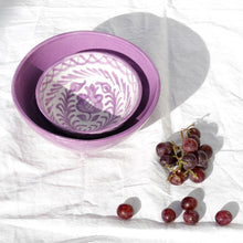 Load image into Gallery viewer, Casa Lila SMALL bowl with hand painted designs