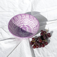 Load image into Gallery viewer, Casa Lila MEDIUM bowl with hand painted designs