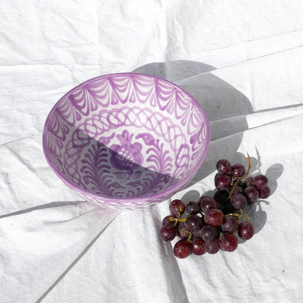 Medium bowl with hand painted designs