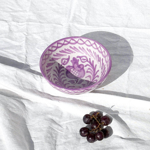 Casa Lila SMALL bowl with hand painted designs