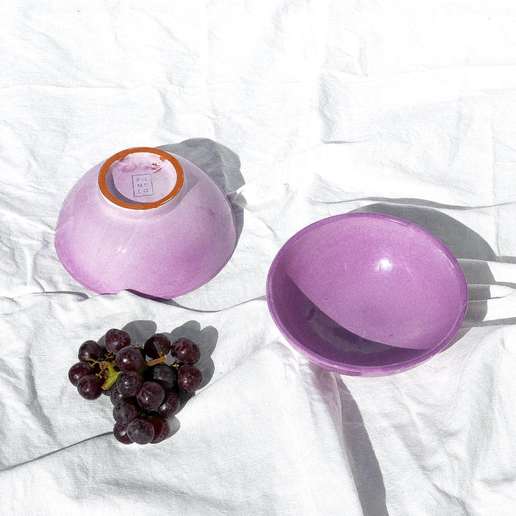SMALL bowl with lilac glaze