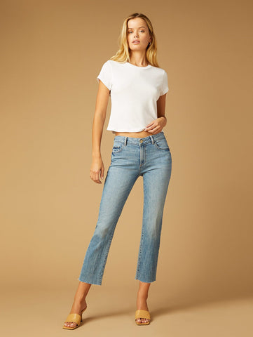 DL1961 Mara Straight Mid Rise Jeans