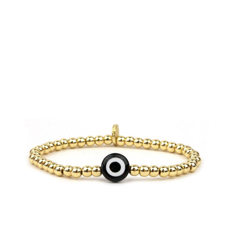 Marlyn Schiff Glass Evil Eye Bracelet