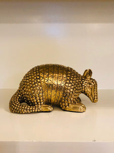 Lisa Lee Bagby Armadillo Brass Sculpture