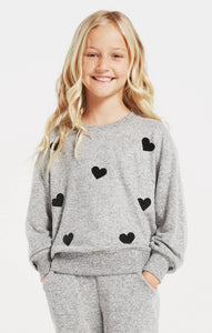 Z Supply Audrey Heart Marled Top