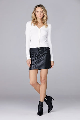 David Lerner Front Snap Utility Skirt