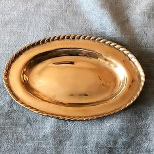 Lisa Lee Bagby Small Braided Brass Bowl