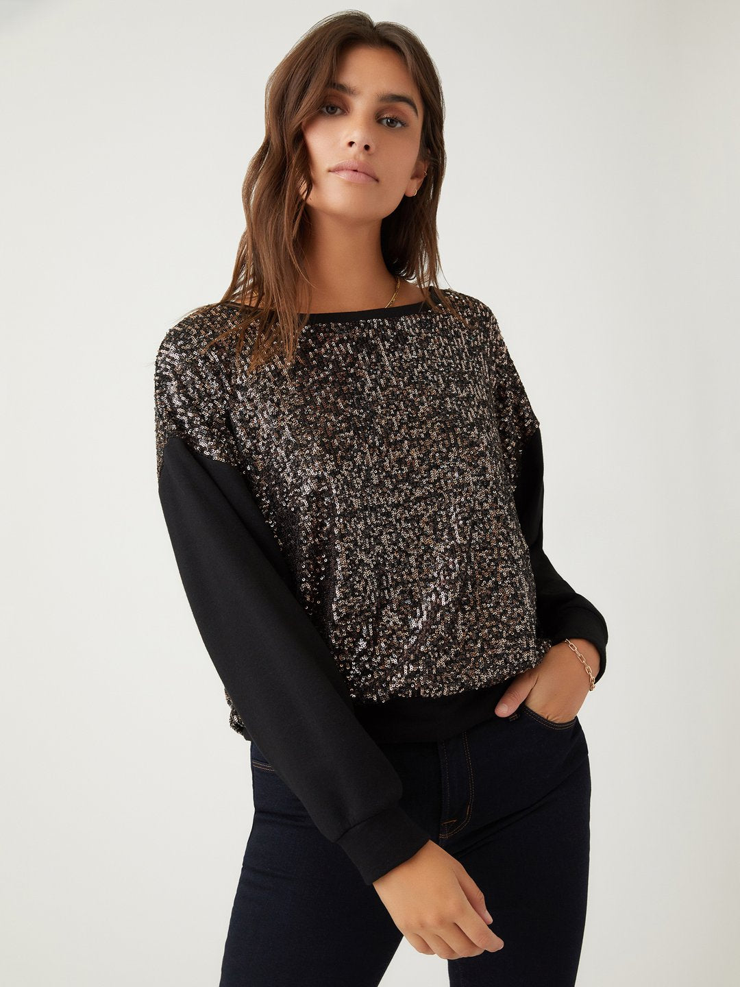 Fifteen Twenty Sequin Sweatshirt