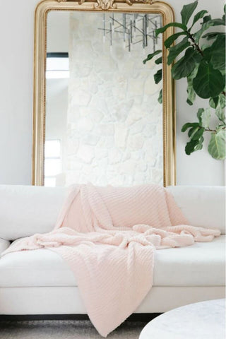 Luxe by PRIV Pink Throw Blanket