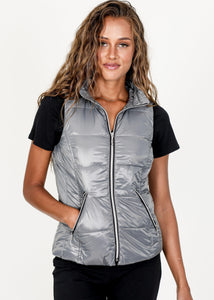 My Anorak Silver Short Puffer Vest