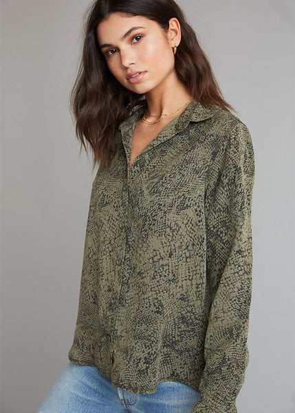 Bella Dahl Button Down Shirt-Cactus