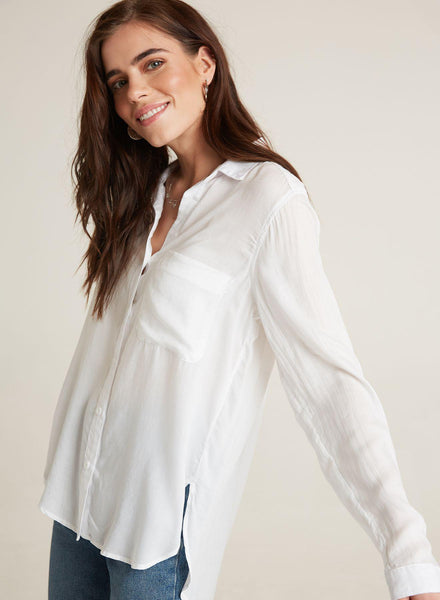Bella Dahl Round Hem Pocket Button Down