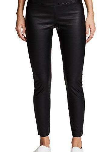 David Lerner Gemma Straight Leg Skimmer Pants in Vegan Leather