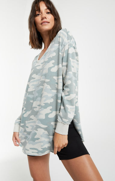 Z Supply Camo V-Neck Weekender