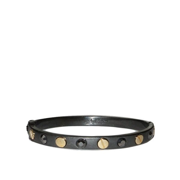 Marlyn Schiff Nail Head Metal Binge Bangle