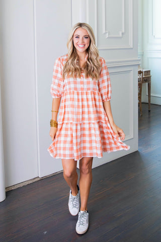 Karlie Gingham Dress