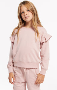 Z Supply Girls Alana Ruffle Sleeve Top