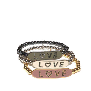 Marilyn Schiff Enamel Love Stretch Bracelet