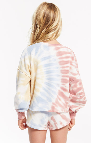 Z Supply Girls Mayori Tie Dye Top