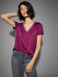 Nation Ltd. June Sateen V- Neck