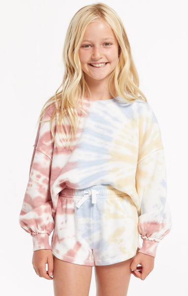 Z Supply Girls Mia Tie Dye Short