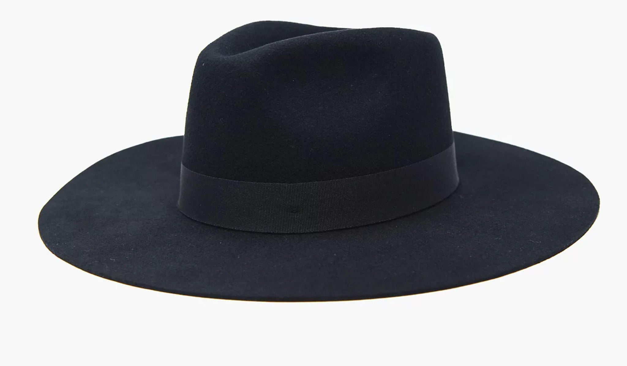 Wyeth Lila Black Fedora Hat