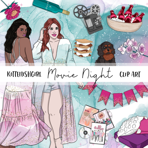 Movie Night // Clip Art