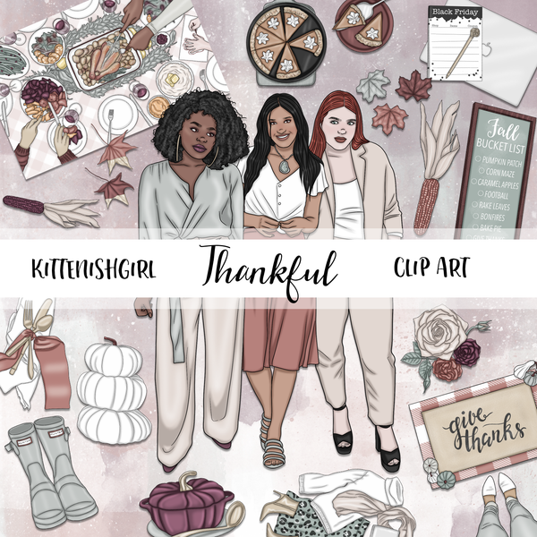 Thankful // Clip Art