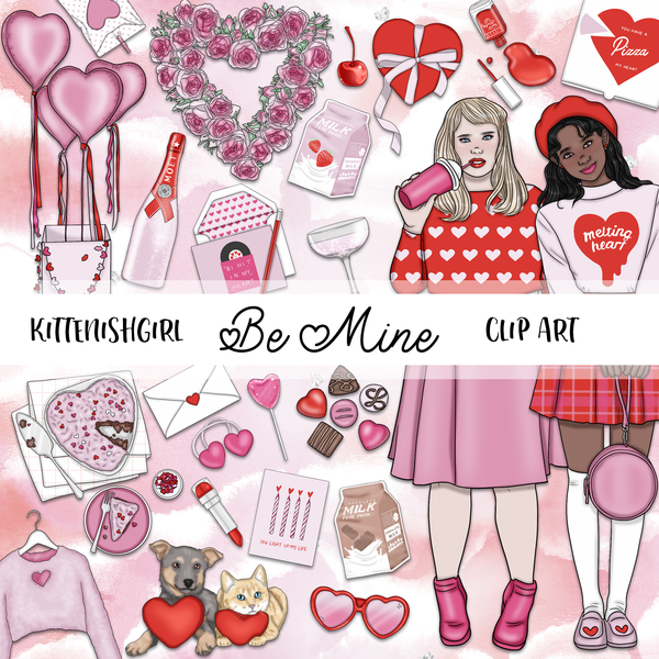 Be Mine // Clip Art