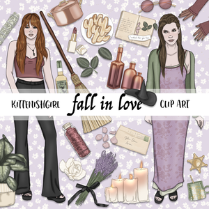 Fall In Love // Clip Art