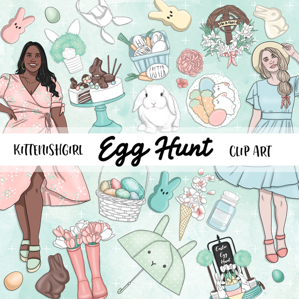 Egg Hunt // Clip Art
