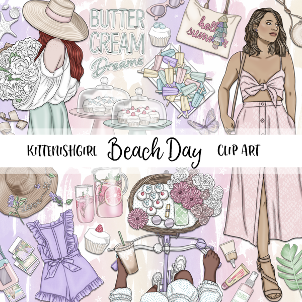 Beach Day // Clip Art