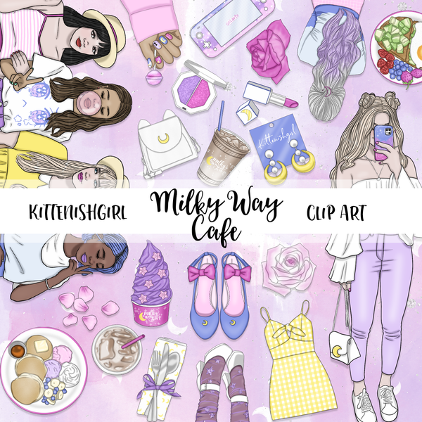 Milky Way Cafe // Clip Art